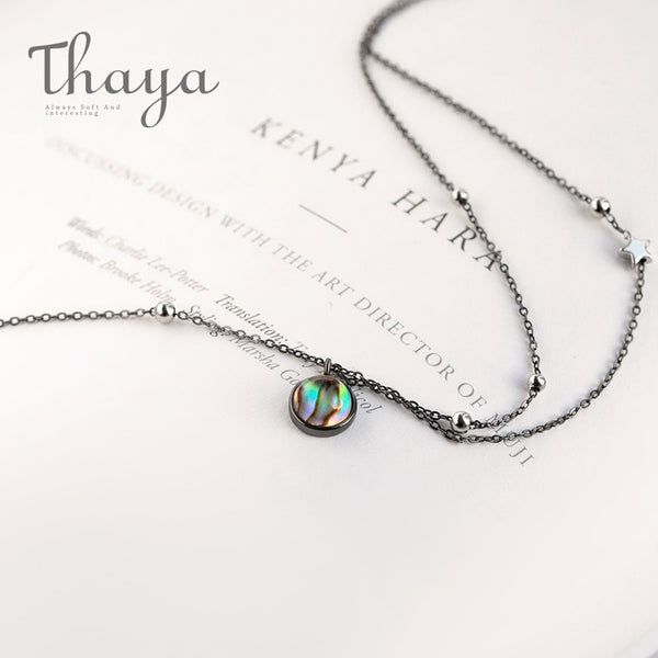 Galaxy Crystal black Chain Milky Way Necklace