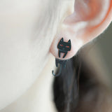 Asymmetric Cat Earrings - Allergy Free