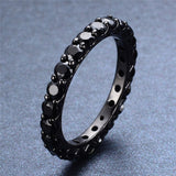 Black Gold Filled Black Sapphire Ring