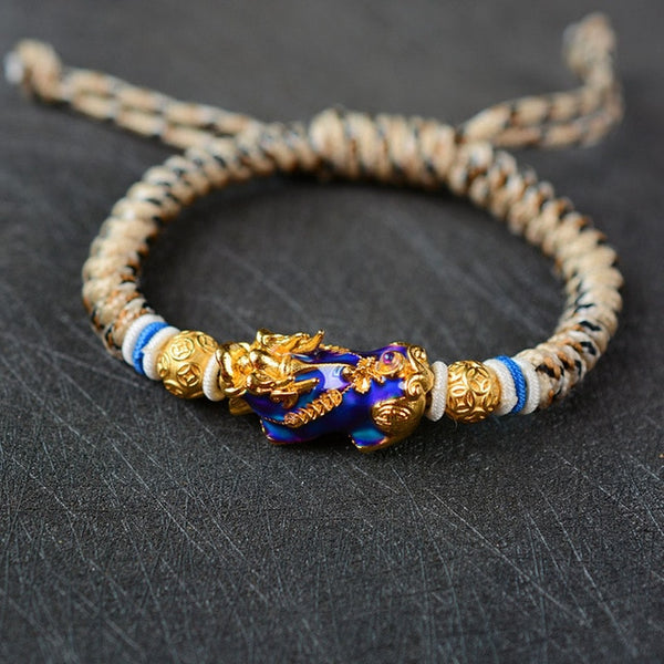 Temperature Color Changing Braided Dragon Bracelet