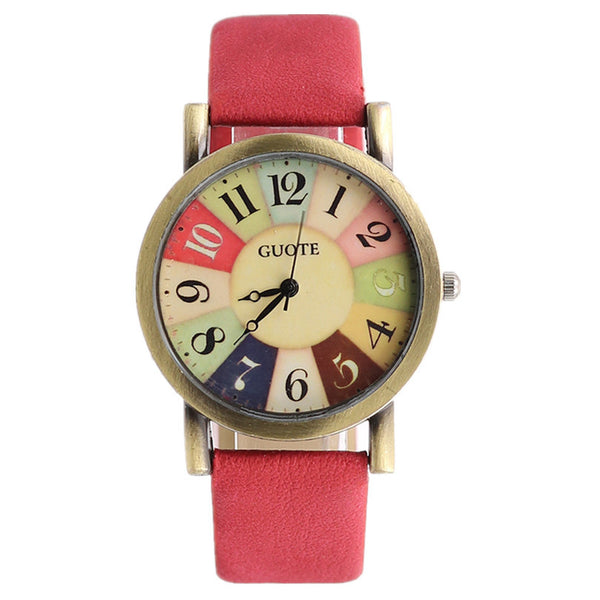 Vintage Rainbow Number Quartz Watch