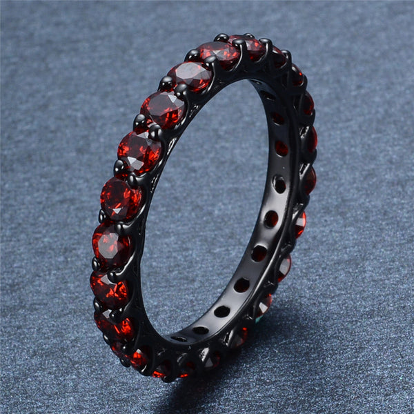 Black Gold Filled Vintage Ruby Ring