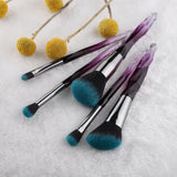 Crystal Style Makeup Brushes - 5Pcs