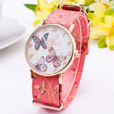 Colorful Butterfly Design WristWatch