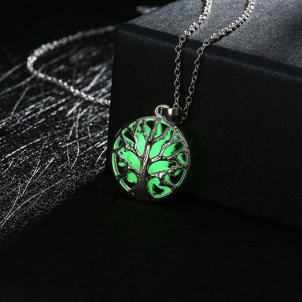 Luminous Tree of Life Beads Necklace