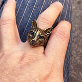 Big Cat Head Fashion Ring