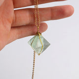 Natural Green Fluorite Necklace
