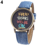 Everything Will Be Ok Denim Watch