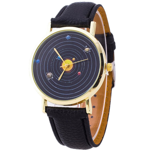 Galaxy Orbit Leather Watch