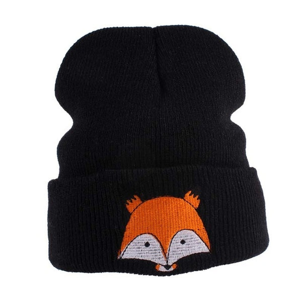 Fox Pattern Knitted Beanies