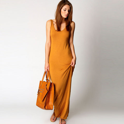 Women Sleeveless Elegant Casual Dress