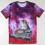 DJ Cat 3D Printed Tees