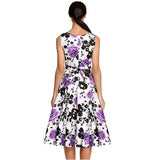 Retro Vintage 1950s 60s Rockabilly Floral Swing Summer Dress Collections