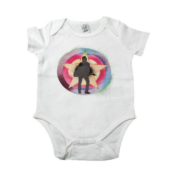 JSF PSYCHEDELIC WHITE BABY GRO