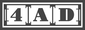 4AD Records UK logo