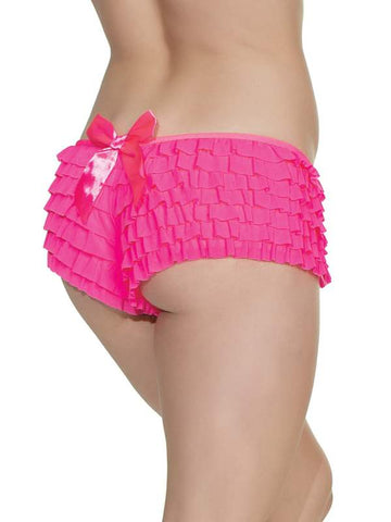 Image of Ruffle Booty Shorts Neon Pink