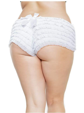 Image of ruffle booty shorts white xl