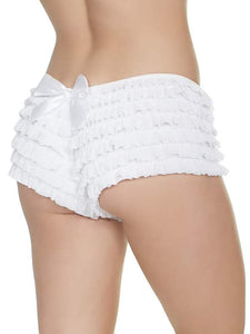 ruffle booty shorts white 1