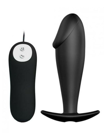 Pretty Love Vibrating curved Butt plug