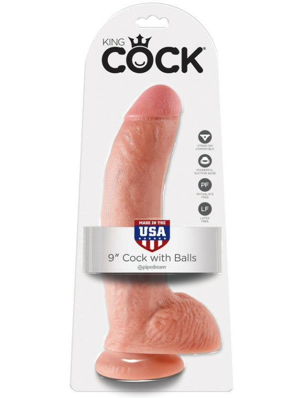King Cock 9 inch cock with balls - Randy's Adult World - 1