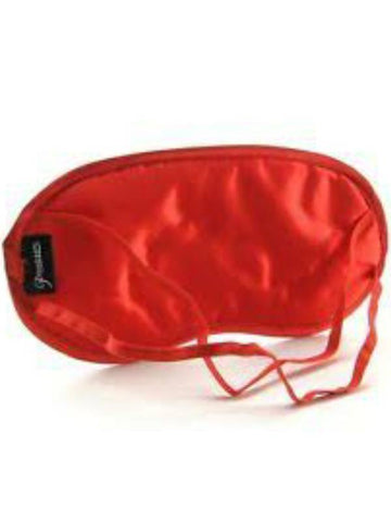 Image of fetish satin love mask red back