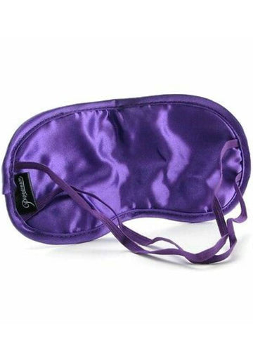fetish satin love mask purple back