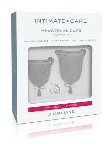 Image of jimmy jane menstrual cups grey in box