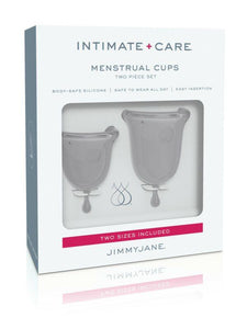 jimmy jane menstrual cups grey in box