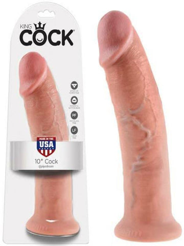 Image of king cock 10 inch cock product and packaging