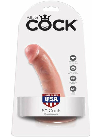 king cock 6 inch cock packaging