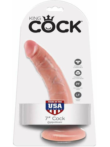Image of king cock 7 inch cock packaging
