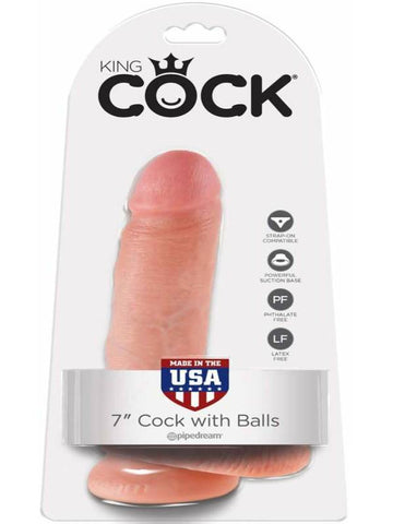 Image of king cock 7 inch with balls packaging