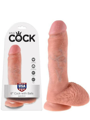 Image of king cock 8 inch product and packaging