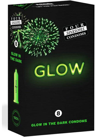 four seasons glow condoms 8 pack