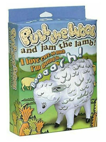 Image of pull the wool and jam the lamb has  voice box for sound affects