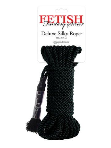 Image of fetish fantasy black bondage rope