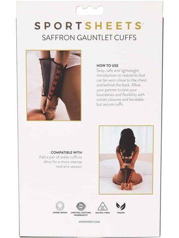 Image of saffron gauntlet packaging back