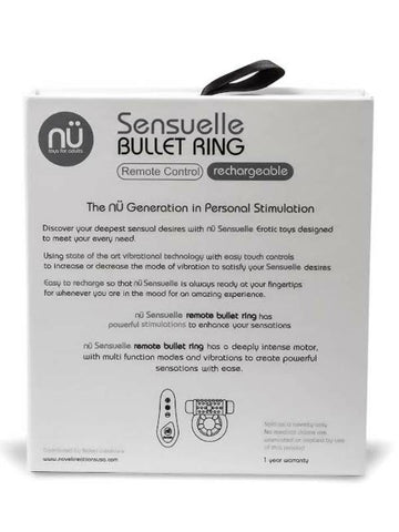 Image of sensuelle remote bullet ring packaging back