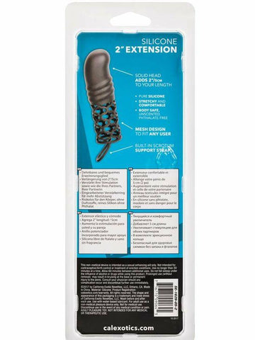 Image of silicone 2' extension back of packaging