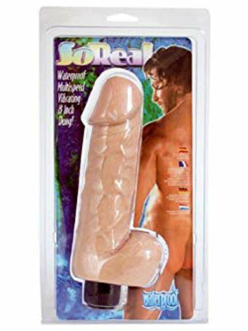 Image of so real 6 inch vibrating dong packaging