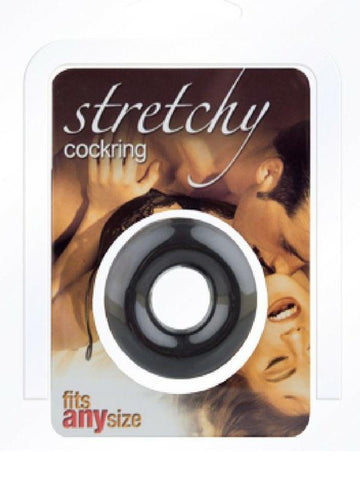 Image of stretchy cockring black