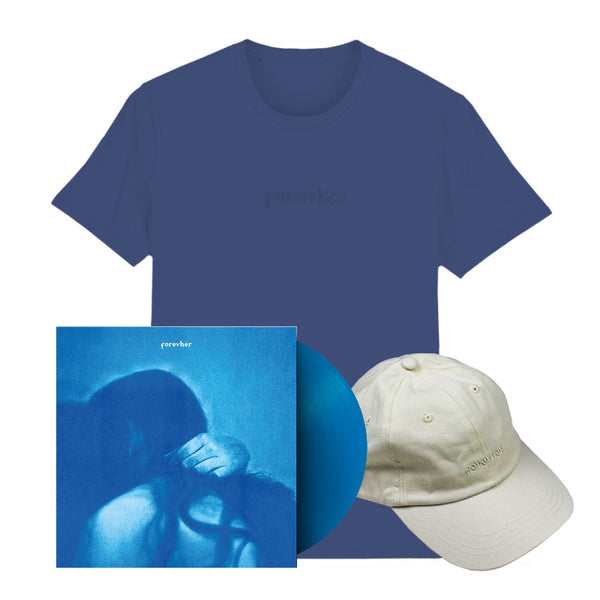 FOREVHER BLUE VINYL T-SHIRT AND CAP BUNDLE
