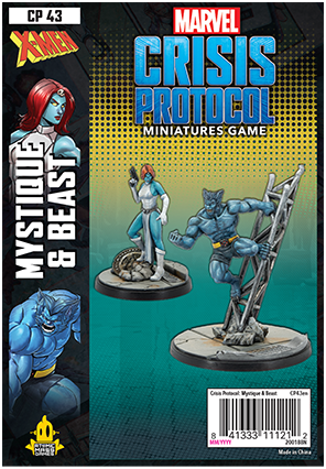 Beast and Mystique - Marvel Crisis Protocol