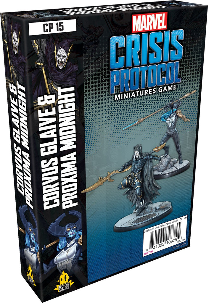 Corvus Glaive and Proxima Midnight Marvel Crisis Protocol