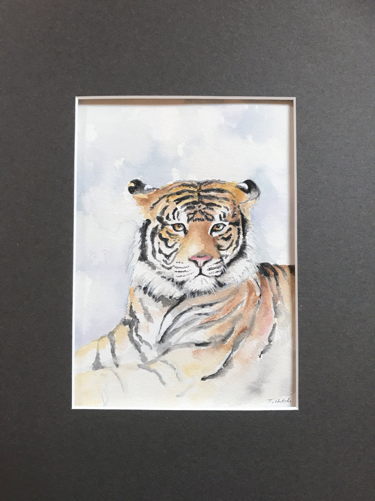 Tiger - Original Watercolor Painting 11x14''
