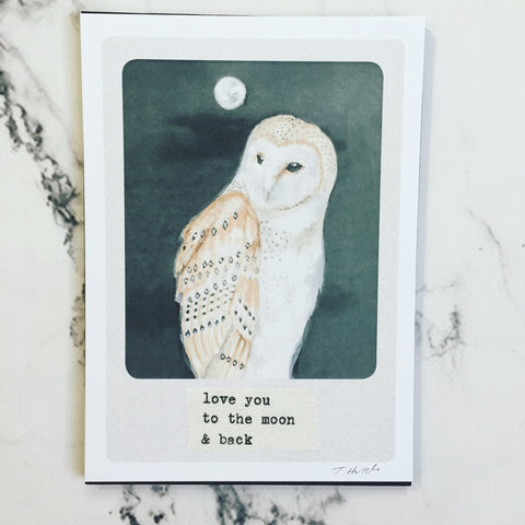 owl - love you to the moon