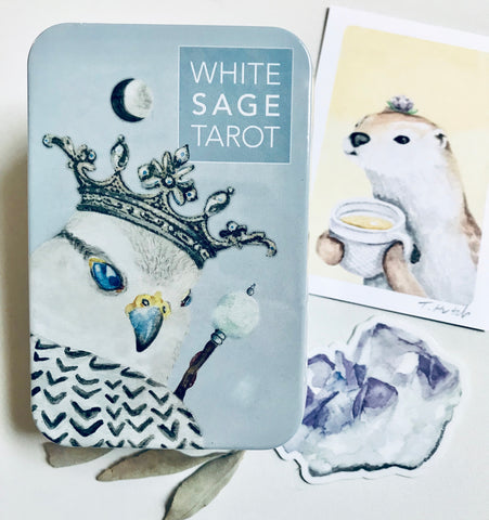 WST Pocket Tin + Signed Otter Print, Sage Sprig