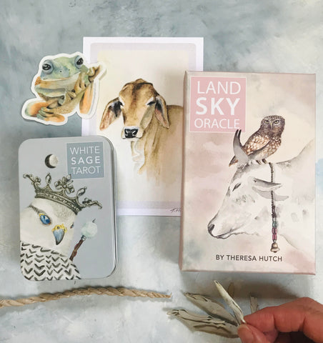 2 Deck Set Bundle - White Sage Tarot & Land Sky Oracle decks