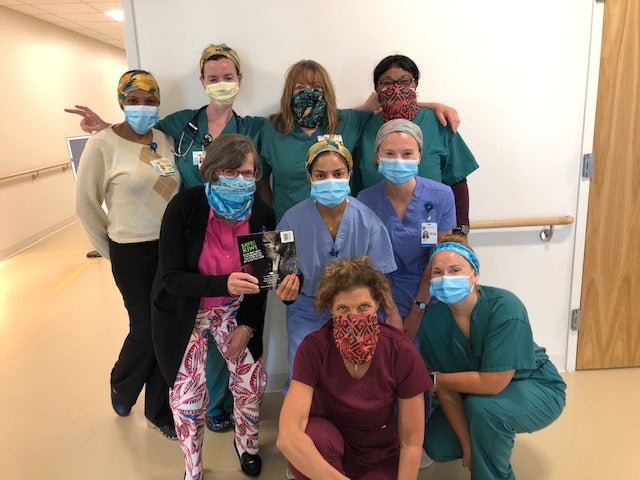 Wild Kiwi Bandanas worn by nurses in Nantucket