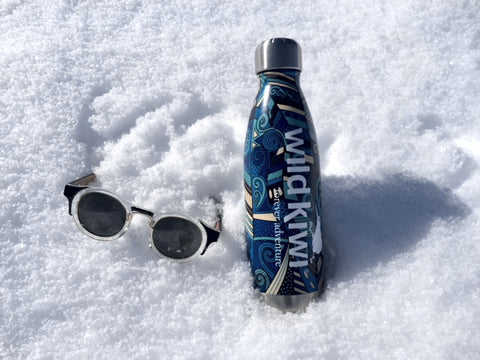 Wild Kiwi Dominator Sunglasses and Koru Print reusable drink bottle. www.wild-kiwi.co.nz